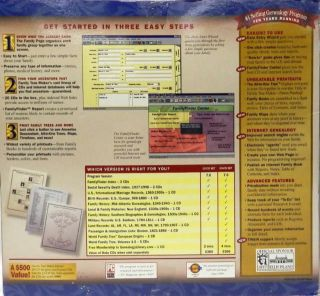 Broderbund Family Tree Maker Version 7 Deluxe 20 CD Set