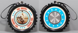 evel knievel 1970s am radio wheel scarce