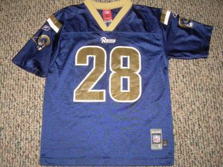 Marshall Faulk # 28 St Louis Rams Youth Football Jersey Large