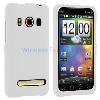 White Hard Case Cover for HTC Sprint EVO 4G Phone