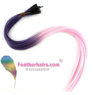 Whiting Salon Long Synthetic Feather Hair Extensions 10 Beads