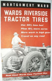 MONTGOMERY WARDS RIVERSIDE TRACTOR TIRES CATALOG FARM EQUIPMENT US
