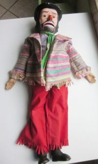 Emmett Kelly Ventriloquist Doll Dummy Doll by Juro Novelty