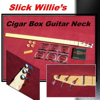 Deluxe Cigar Box Guitar Neck Kit Just Add A Box