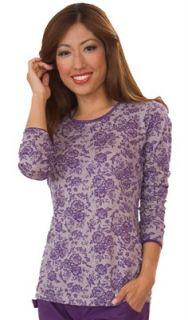 Koi Emmy 179 Long Sleeve Lace Nurse Undershirt Scrub Top XS 2XL 4