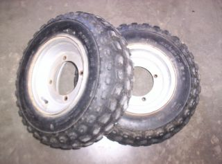 98 Yamaha Banshee 350 Front Tires Wheels Rims 21x7 10 7196