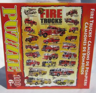 New Fire Trucks Jigsaw Puzzle 100pc o Graphics Kids Vehicles 19x26