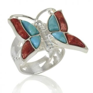 Jewelry Rings Gemstone Jay King Turquoise Coral Butterfly