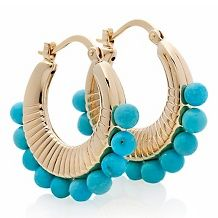 heritage gems sleeping beauty turquoise hoop earrings $ 199 90