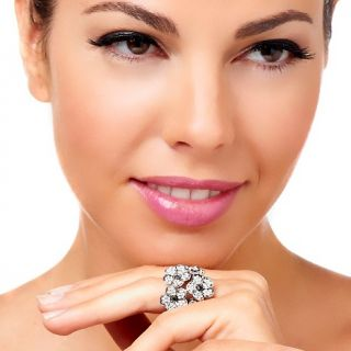 Niecy Nash Collection Crystal Antique Flower Ring
