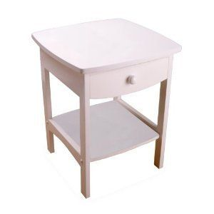 Nightstand Night Stand End Table Tables Stands White Bedroom Drawer