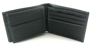 Columbia Black Leather Endeavor Passcase Bifold Wallet