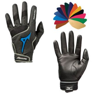 Switch Leather Palm Baseball/Softball Batting Gloves BLK Medium