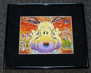 TOM EVERHART SNOOPY NOBODY BARKS IN L.A. FRAMED PROMO PRINT CHARLES