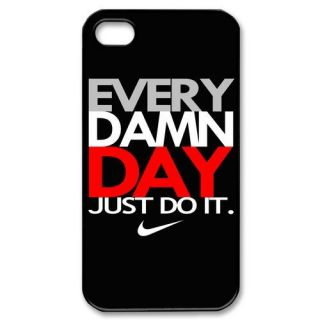 Every Damn Day Just do It Nike Black Apple iPhone 4 4S Case