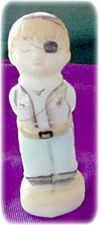 Fenton Glass Boy Captain Kid Figurine Opal Satin HP