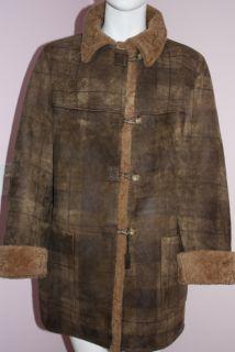 New Jacques Ferber Patterned Sheepskin Coat Size L