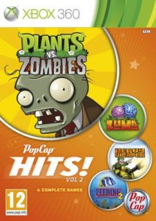 Vol 2 Xbox 360 Plants vs Zombies Zuma Heavy Weapon Feeding Frenzy 2