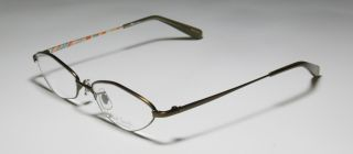 51 17 138 Khaki Vision Care Half Rim Eyeglass Glasses Frames