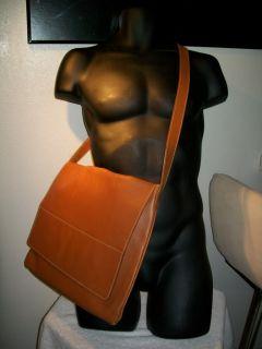 GIORGIO ARMANI Leather Men Crossbody Messenger Laptop Tablet BAG