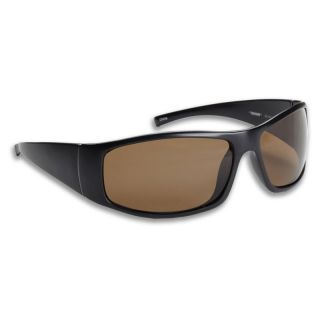 Fisherman Eyewear Polarized Sunglasses   Bluefin   Matte Black / Brown