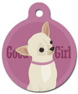Good Girl Chihuahua Pet ID Tag Custom Text Dog