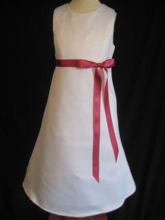 Watermelon Aline Flower Girl Dress 2T 3T 4T 5 6 7 8 10