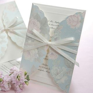 Sample Wedding Invitation Card RSVP Card Envelope Seal B1002