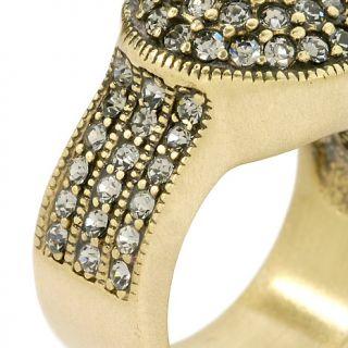 Heidi Daus Belgium Disc Crystal Ring