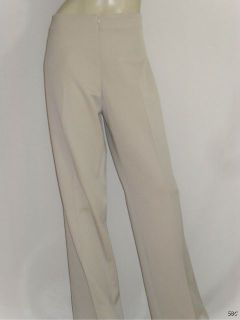 Fabrizio Gianni Sz 14 Stretch High Comfort Beige No Pocket Zip Front