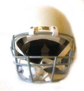 white youth small x2 regular football helmet kids face mask chin strap