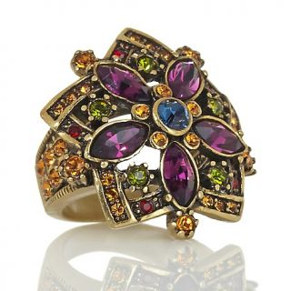 219 037 heidi daus corsage for the finger crystal accented flower ring
