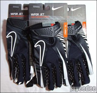 Nike Vapor Jet Football Gloves Black White GF0080 002 Carbon Elite s M