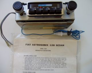 1969 1985 FIAT Astrosonix 128 Sedan AM Radio & Dash Kit   NOS   Model
