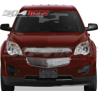 FITS CHEVY EQUINOX 2010 2012 CHROME BILLET GRILLE OVERLAY   TOP ONLY