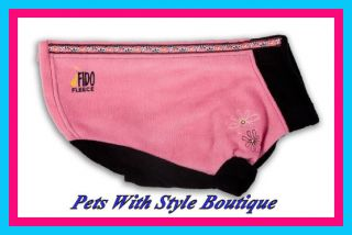 Season Fido Fleece Dog Coat Pink Zinnias Pink Polar Fleece Dog Coat