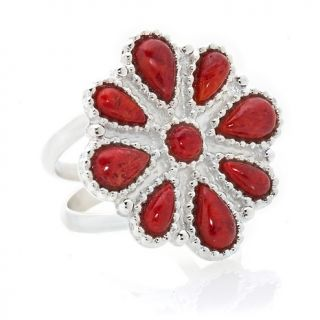 233 662 mine finds by jay king sterling silver blossom gemstone ring