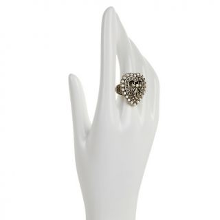 Heidi Daus Heidis Heartthrob Crystal Accented Ring at