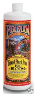 FoxFarm Big Bloom 32 oz Fertilizer Natural Organic