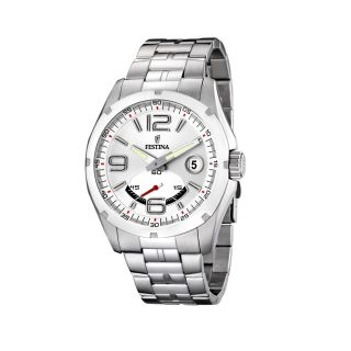 Festina Classic Steel Mens Stainless Steel Case Date Watch F16480 1