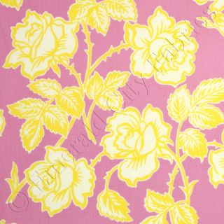 Heather Bailey Pop Garden Wallpaper Roses Pink Cotton Quilt Quilting