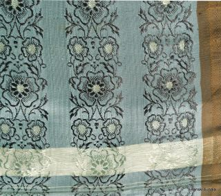 Vintage Sari Hand Woven Brocade Fabric Art Silk Heavy Indian Saree