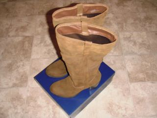 Womens Boots Size 10M Brown Falls Creek Knee High with 3 inch Heel