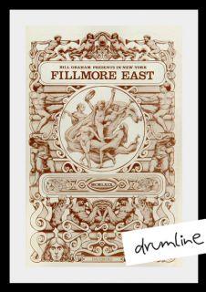 Janis Joplin 1969 Rock Concert Program Only Print Fillmore East
