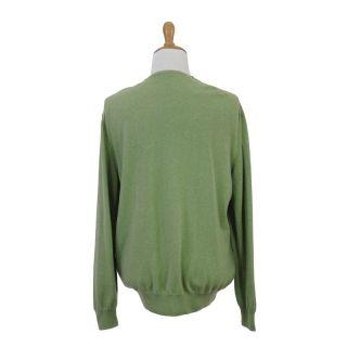 Ermenegildo Zegna Five Ply Cashmere V Neck Sweater US 58 EU 3XL