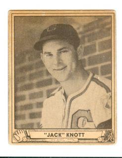 1940 Play Ball Playball Jack John H Knott Jr 13 Chicago White Sox