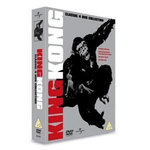 King Kong Collection vs Godzilla Escapes Monster Action 4 Film Set DVD