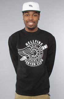 DTA   Rogue Status The Hellfire Crewneck Sweatshirt in Black White