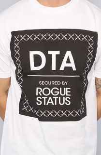 DTA   Rogue Status The Black Arms Tee in White