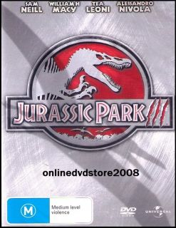 JURASSIC PARK III 3   Dinosaur ACTION THRILLER Movie DVD (NEW & SEALED